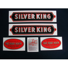 Silver King Silver King (black) Mylar Cut Decal Set (S101)