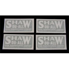Shaw Shaw DU-ALL (4 decals) Vinyl Cut Decal Set (GSD301S )