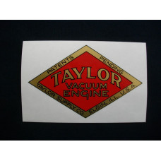 Taylor Engine Taylor (A) red Mylar Cut Decals (T101)