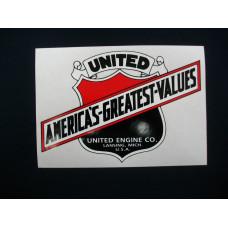 United Tractor 8 inch Mylar Cut Decal (U100)