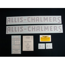 Allis Chalmers RC blue Vinyl Cut Decal Set