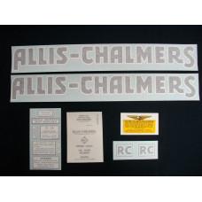 Allis Chalmers RC black Vinyl Cut Decal Set