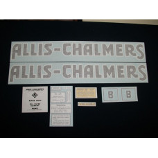 Allis Chalmers B blue long A & S Vinyl Cut Decal Set