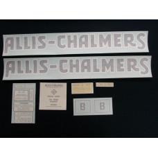 Allis Chalmers B black long A & S Vinyl Cut Decal Set