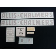 Allis Chalmers B black even letters Vinyl Cut Decal Set