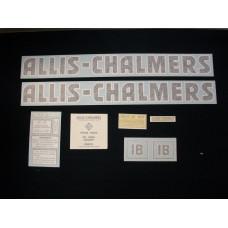 Allis Chalmers IB black even letters Vinyl Cut Decal Set