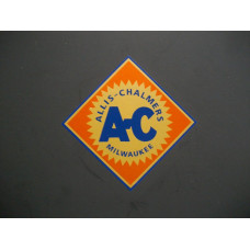 Allis Chalmers 2 inch orange background Vinyl Decal Set