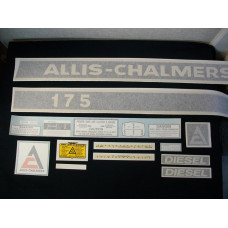 Allis Chalmers 175 diesel Vinyl Cut Decal Set