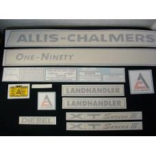 Allis Chalmers One-Ninety XT Series III diesel Vinyl Cut Decal Set