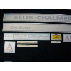 Allis Chalmers One-Eighty Vinyl Cut Decal Set