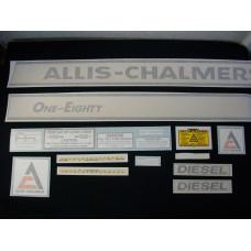 Allis Chalmers One-Eighty diesel Vinyl Cut Decal Set