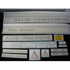Allis Chalmers One-Ninety XT Vinyl Cut Decal Set