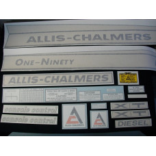 Allis Chalmers One-Ninety XT diesel Vinyl Cut Decal Set