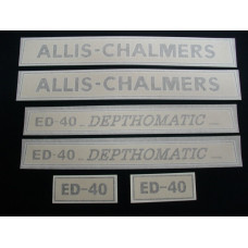 Allis Chalmers ED-40 Vinyl Cut Decal Set