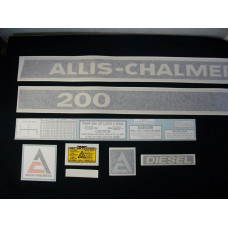 Allis Chalmers 200 diesel Vinyl Cut Decal Set