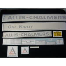 Allis Chalmers One-Ninety Vinyl Cut Decal Set
