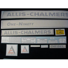 Allis Chalmers One-Ninety diesel Vinyl Cut Decal Set