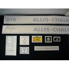 Allis Chalmers D15 Series II gas Vinyl Cut Decal Set