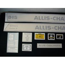 Allis Chalmers D15 Series II diesel Vinyl Cut Decal Set