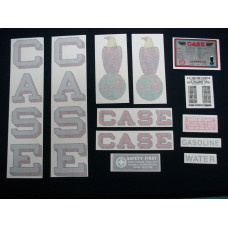 Case 12-20 silver fender decal Vinyl Decal Set