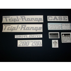 Case 200 Tripl-Range Vinyl Cut Decal Set