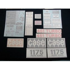 Case 1175 Agri King Turbo 1972 - early 1974 Vinyl Cut Decal Set