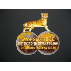 Garr-Scott Tractor Tiger (one) Vinyl Cut Decal (VGS1620)