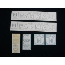 Farmall Super H Vinyl Cut Decal Set (VI148)