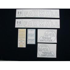 Farmall Super MTA Vinyl Cut Decal Set (VI150)