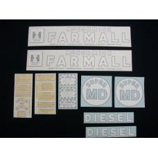 Farmall Super MD Vinyl Cut Decal Set (VI151)