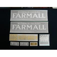 Farmall F-14 Vinyl Cut Decal Set (VI314)