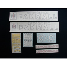 Farmall C Demonstrator Vinyl Cut Decal Set (VI403)