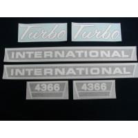 International Harvester 4366 Turbo (hoods & mdl ltrs) blk/chrome Vinyl Cut Decal Set (VI513)