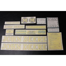 John Deere M styled Mylar Cut Decal Set (JD118)