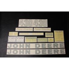 John Deere 430 Mylar Cut Decal Set (JD152)
