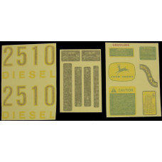 John Deere 2510 gas/diesel Vinyl Cut Decal Set (VJD304S)