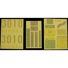 John Deere 3010 gas/diesel Vinyl Cut Decal Set (VJD306S)