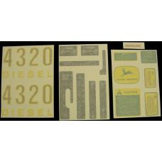 John Deere 4320 gas/diesel Vinyl Cut Decal Set (VJD313S)