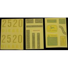 John Deere 2520 gas/diesel Vinyl Cut Decal Set (VJD330S)