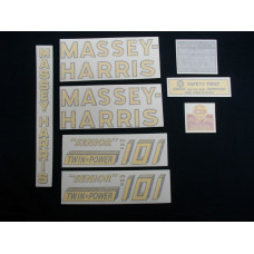 Massey Harris 101 Senior Twin Power Vinyl Cut Decal Set