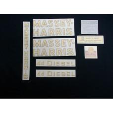 Massey Harris 44 Diesel Vinyl Cut Decal Set