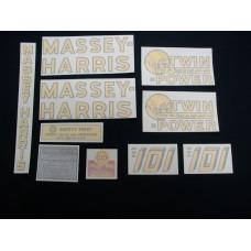 Massey Harris 101 Twin Power Vinyl Cut Decal Set