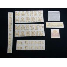 Massey Harris 33 Diesel Vinyl Cut Decal Set