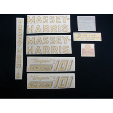 Massey Harris 101 Super Twin Power Vinyl Cut Decal Set