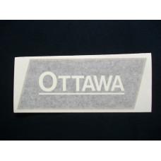 Ottawa Engine Ottawa (gold/blk/wht) Vinyl Cut Decals (VOT100)
