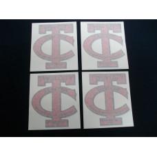 Twin City Tractor City (set of 4) Vinyl Cut Decal (VT100)