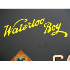 Waterloo Boy Engine Waterloo Boy (script) Vinyl Cut Decals (VW101)
