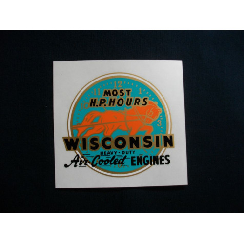 Wisconsin Engine Wisconsin Air Cooled (blue) Mylar Cut Decals (W100)