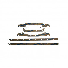 Case Engines (Gas, LP, Diesel) Pan Gasket Set (Pan with Ears / Case-O-Matic) (251, A251, 267D, A284, 301D)