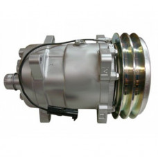 Hesston-Fiat 8400 Windrower Sanden Compressor with Clutch - New | 880469